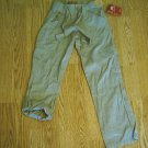 GIRLS KHAKI CONVERTIBLE PANTS-SIZE 7-NWT ADJUSTS
