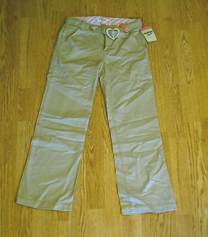 OSHKOSH GIRLS KHAKI PANTS-SIZE 12-26 X 25.5-NWT ADJUSTS