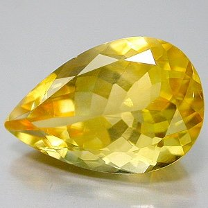 Natural 5.07 carat Citrine Pear cut gem stone 15x7mm