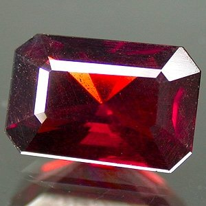 Natural 9x6mm Radiant Octagon cut Spessartite Garnet gem 2.05 Ct