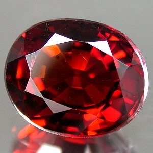 Natural 3.02 ct Bright Red Spessartite Garnet Oval 9x7mm gem