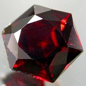 Natural 6.5mm Hexagon cut Mozambique Garnet gem 1.35 Ct