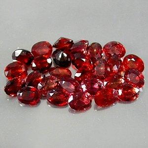 Natural 4x3mm oval cut Mozambique Garnet gems stones $5.00 each
