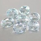 Natural 5x4mm Oval cut Aquamarine gems eye clean light blue $5.00 each