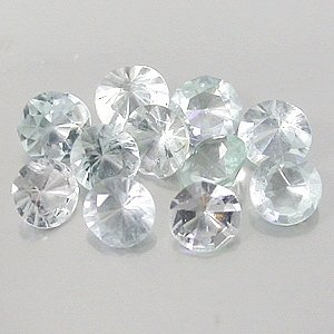 Natural 3mm round cut Aquamarine gems eye clean light blue $1.00 each