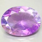 Huge Natural Bi-color  Amethyst 16x12oval cut gem 7.77 carats