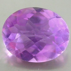 Large Natural Purple Amethyst 11x9mm oval Checker Board cut gem 3.304 carats