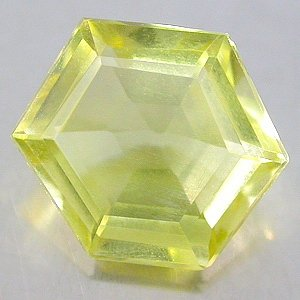 Natural 4.79 Ct. carat Lemon Citrine Fancy Hexagon cut gem stone 12.8 x 11mm