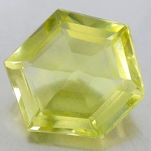 Natural 4.83 Ct. carat Lemon Citrine Fancy Hexagon cut gem stone 12.5 x 10.7mm