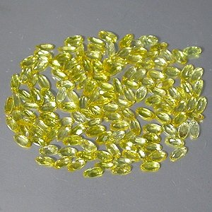 Natural 4 x 2mm Long Oval  cut Yellow Beryl gems stone Just $1.00 each