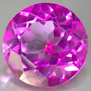 6 Ct. Flamingo Mystic Topaz 11mm round cut gem eye clean