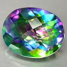 30 Carat Green Mystic Fire Topaz Oval cut gem 25x18mm