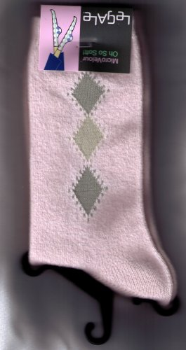 LeGale Micro Fiber Velour Sock - 3 Diamond-Pink