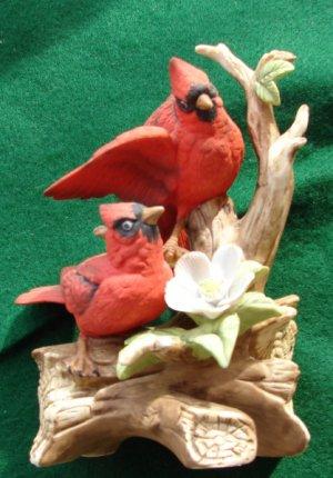 Ceramic Cardinals Figurine
