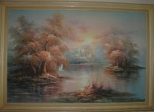 Landscape on Canvas by S. Compson