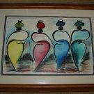 Bushman Abstract Watercolor Painting