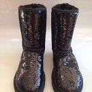 AUTH UGG Australia Black Sequins Sheepskin Boots 7 NWOB NEW!