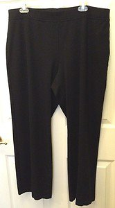 Eileen Fisher BLACK Heavy Weight Rayon Knit Straight Pant XL