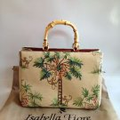ISABELLA FIORE Monkey Business Bamboo Handle Tote Bag NEW! NWOT