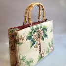RARE Isabella Fiore Monkey with Bamboo Handle Tote Handbag NEW!