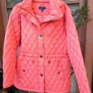 Lands End Ladies Quilted Parka Bright Peach NEW!