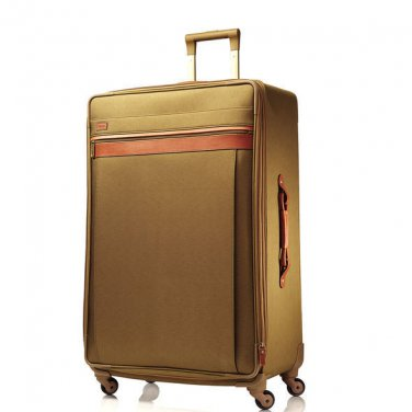 RARE Hartmann Hudson Belting Mobile Traveler Exp. Spinner Suitcase 30 Khaki NEW!