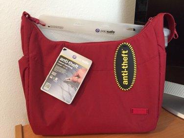 Pacsafe citysafe 200 GII Anti-Theft Handbag Purse ~NEW! ~ RARE RED COLOR