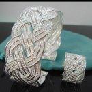 FREE P&P!925 SILVER intwine BRACELET & RING #S111