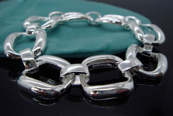 FREE P&P! 925 STERLING SILVER SQUARE Bracelet#50