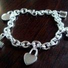 FREE P&P! 925 STERLING SILVER 5 Cute CHARM Bracelet#232