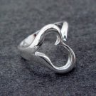 FREE P&P! 925 STERLING SILVER HEART 8 Q RING #35