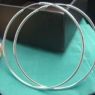 FREE P&P! 925 STERLING SILVER CIRCLE EARRINGS #83