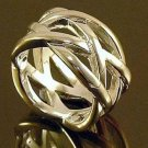 FREE P&P! 925 STERLING SILVER intercross RING #11