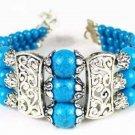 Genuine Tibet silver Turquoise Handmade Bracelet