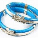 Unique Tibet silver & turquoise charm Bracelets