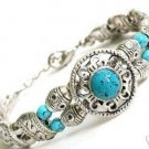 Lovely Tibet Jewelry Silver &Turquoise Bracelet