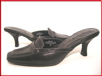 NINE WEST Shoes Black Mules Slides Size 8