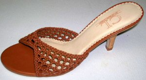 Chinese Laundry Brown Tan Slide Sandal Pumps Size 8.5