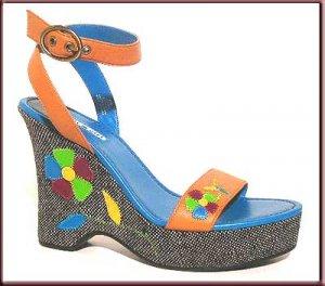 Tommy Girl Platform Wedge Slingback Sandals Sz 8.5