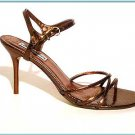 STEVE MADDEN Strappy GOLD BROWN  Sandals Shoes Pumps Size   9