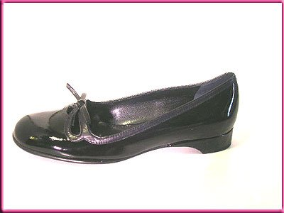 FRANCO SARTO Shoes BLACK PATTEN LEATHER Flats Sz 7