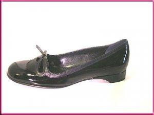 FRANCO SARTO Shoes BLACK PATTEN LEATHER Flats Sz 7