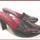 TOMMY HILFIGER  Leather Clogs Mules Black Shoes  Sz 7