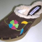 Tommy Girl CLOGS Mules Wedged Heels Shoes Sz 6