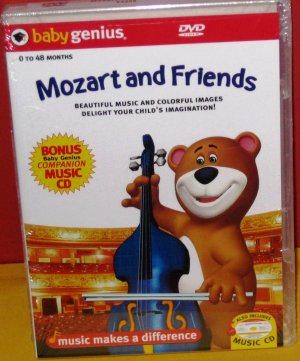 Baby Genius Mozart and Friends w/ bonus CD NEW!!!