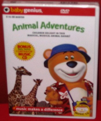 Baby Genius Animal Adventures w/ bonus Music CD