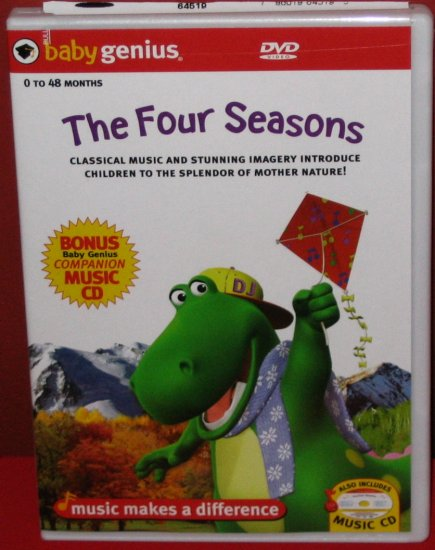 Baby Genius Four Seasons w/ Bonus Music CD NEW!!!