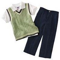 Cable-Knit Sweater-Vest Suit Set