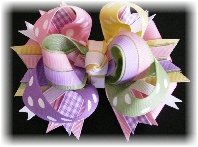 Spring Easter Deluxe Pastel Hair Bow