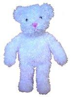 "15"" White Curly Bear"